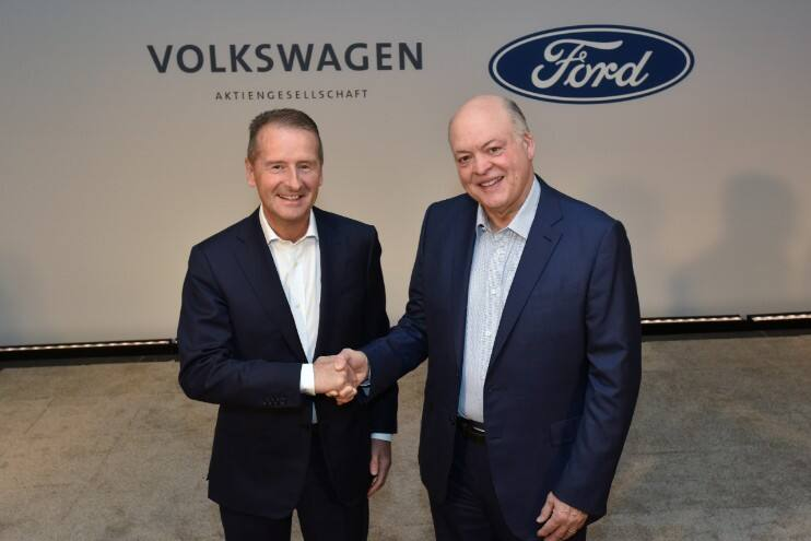 VW, Ford Partnership Shows How Carmakers Are Trying To Stay Ahead Of Disruption