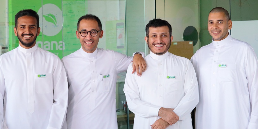nana co founders from left abdulmajeed alsukhan sami alhelwah ahmed alsamaani and bakr alsharif