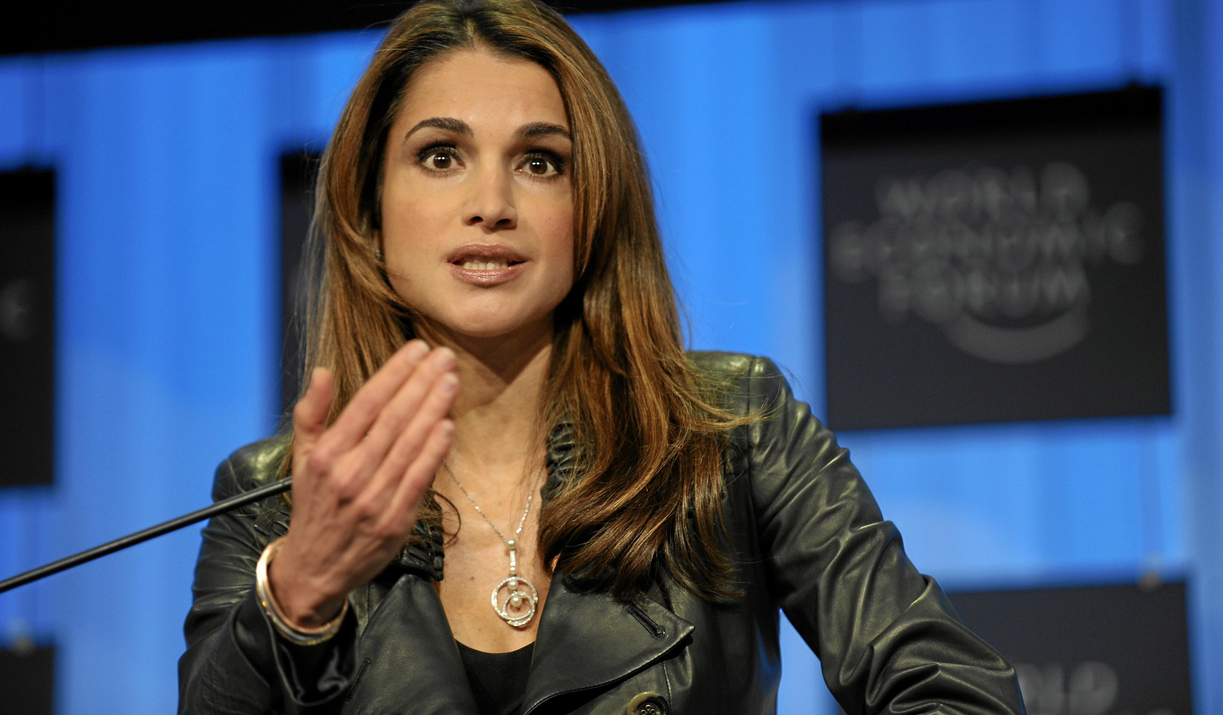 the queen of jordan at the world economic forum 2010