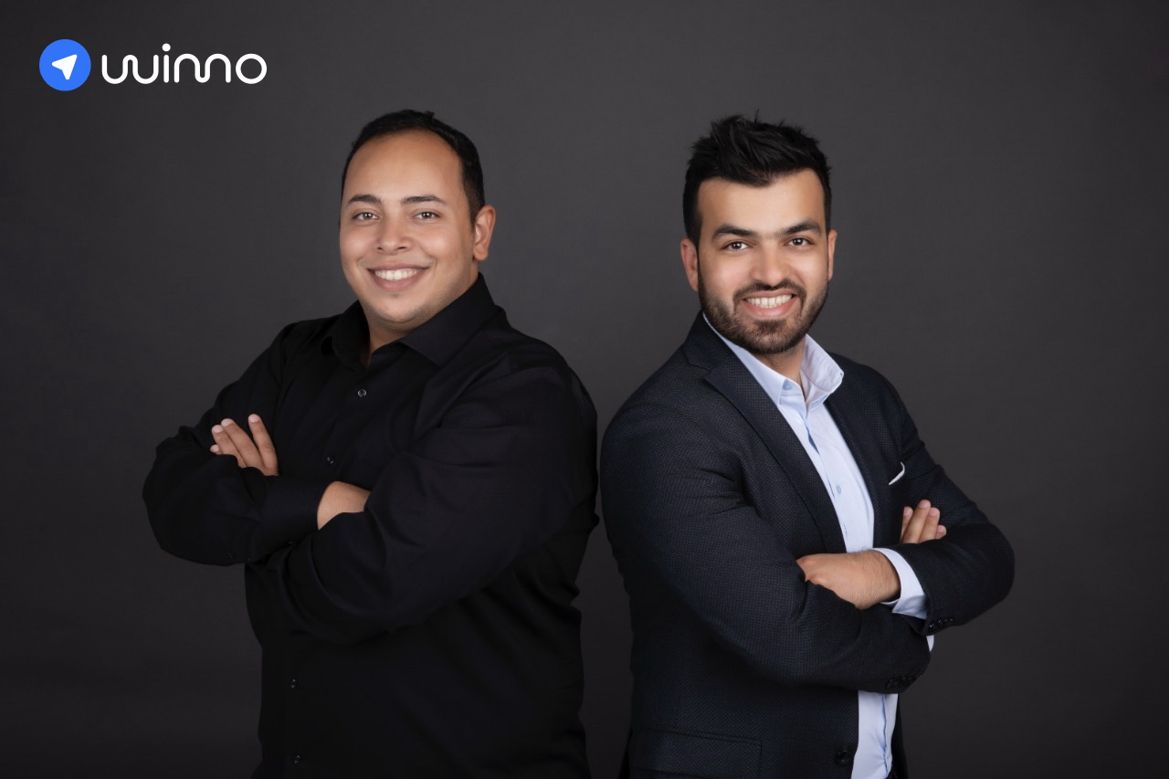 wimo founders l to r mohamed bahaa cto of wimo wissam aboueida ceo of wimo