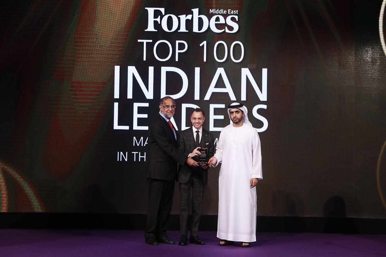 His Highness Sheikh Mohammed Bin Juma Al Maktoum, H.E. Navdeep Singh Suri, Ambassador of India to the UAE with Adnan Chilwan, Group CEO at Dubai Islamic Bank
