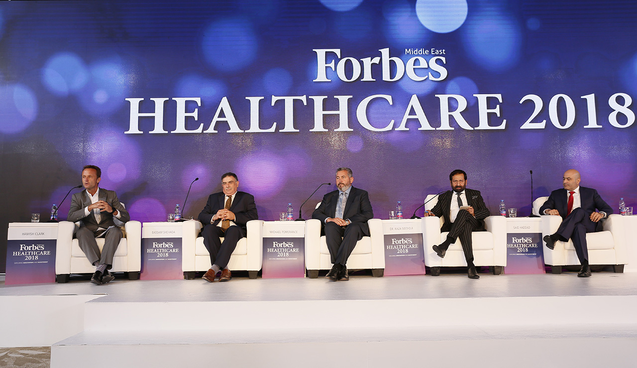 Hamish Clark, Partner for Middle East Health Strategies at PwC moderated a panel of experts discussing the development of machine medicine