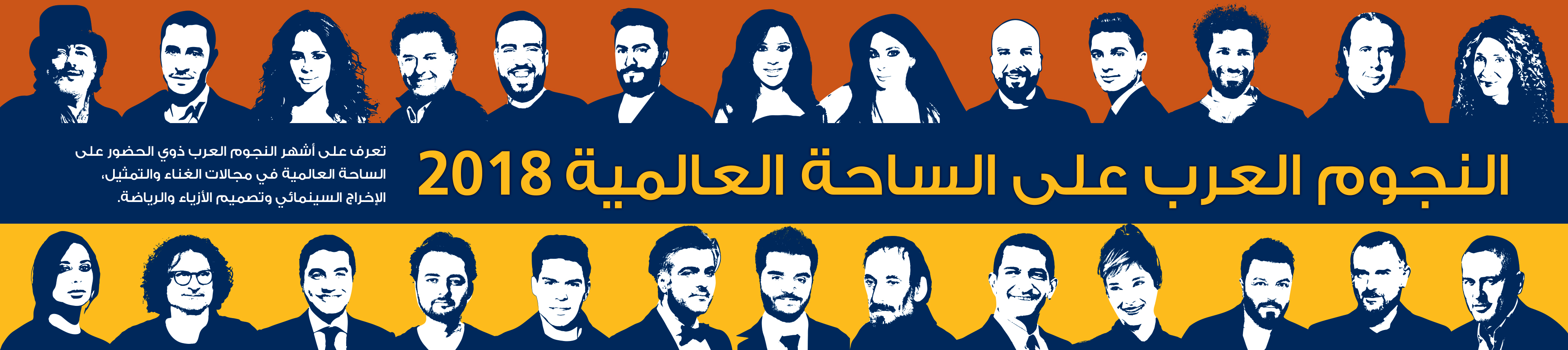 النجوم العرب على الساحة العالمية 2018