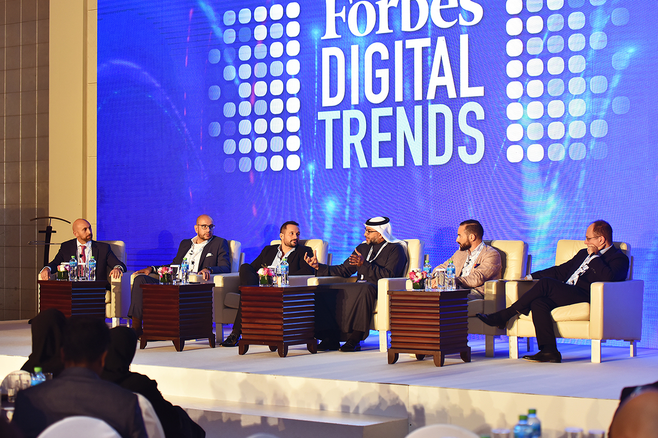 Jamil Asfour, Partner at Roland Berger, moderated a panel of experts discussing Digital Transformation