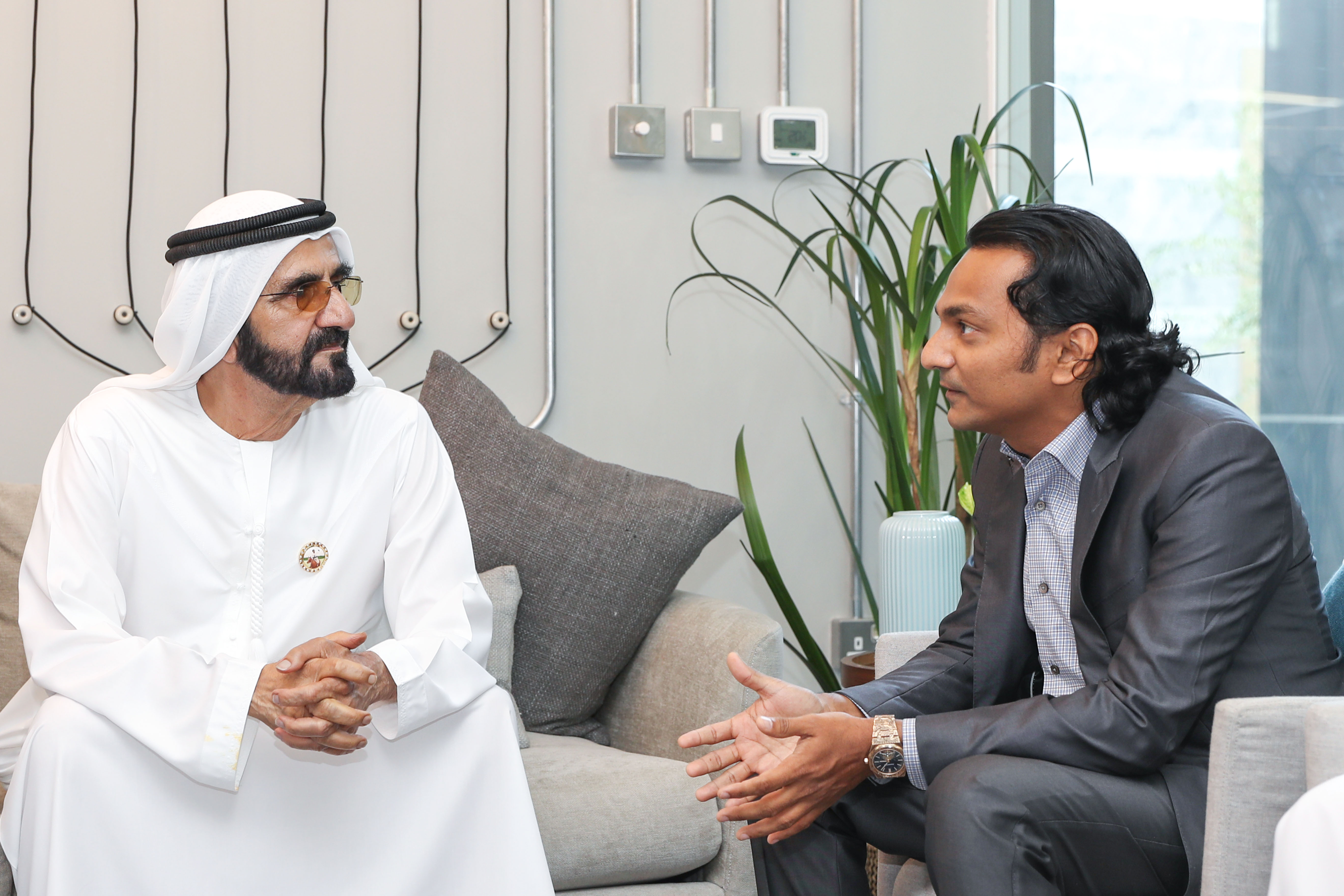 Dubai Ruler Sheikh Mohammed Meets The Self-Made Billionaire Who Made His First Million at 18