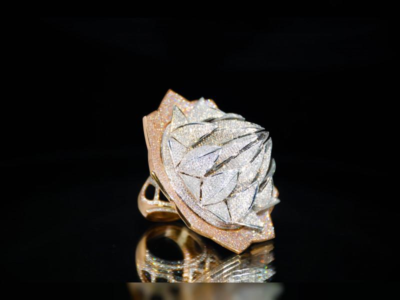$4.9M Diamond Ring Showcases In Sharjah