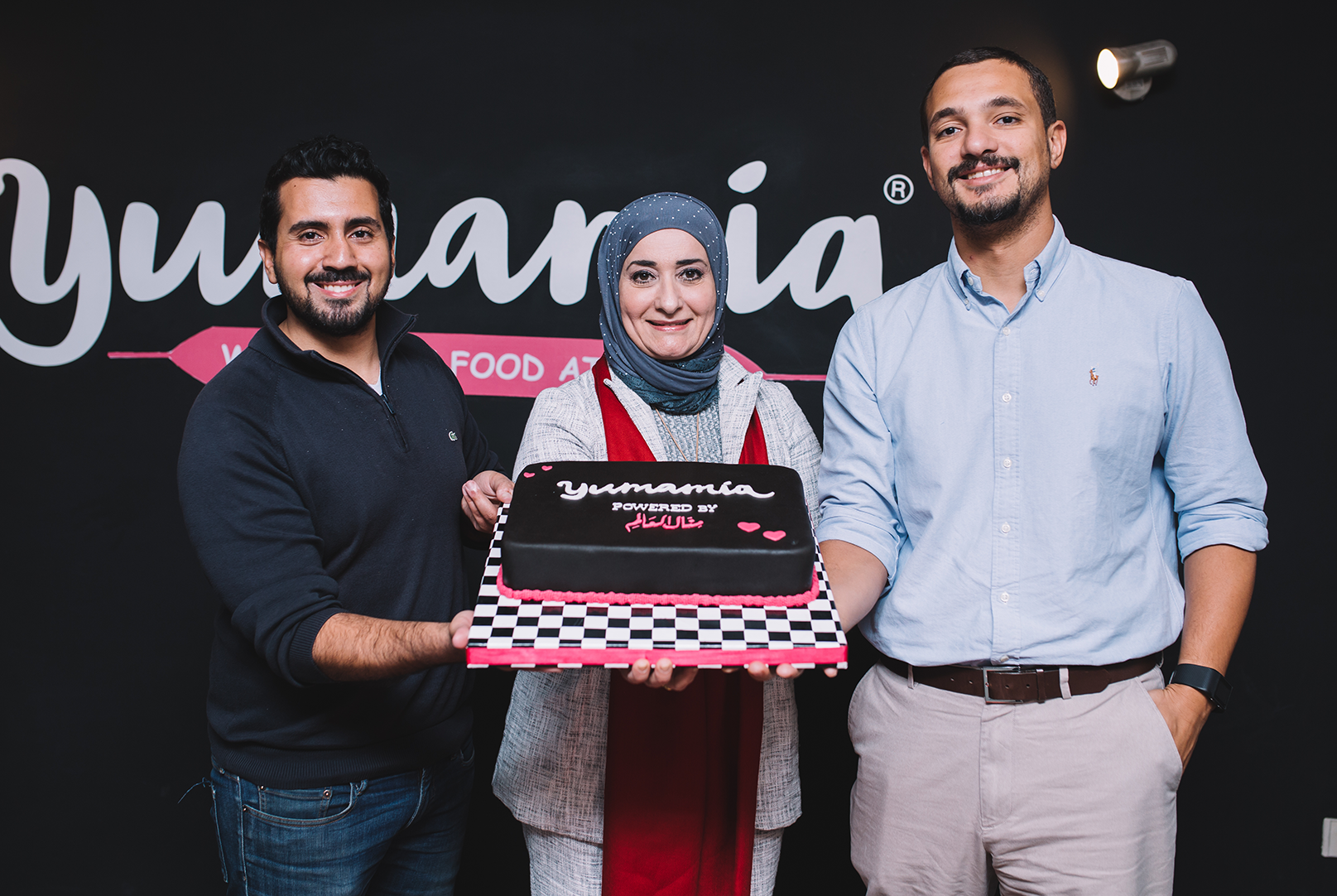 chef manal alalem with yumamia co founders