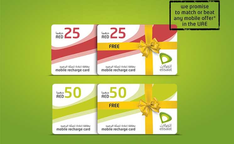 Etisalat Offers Wasel Prepaid Customers 100% Bonus On Any
